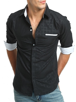 Ericdress Vogue Plaid Men's Shirt