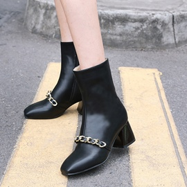 Ericdress Unique Chain Plain High Heel Boots