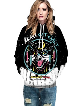 Ericdress Halloween Tie-Dye Cartoon Cool Hoodie