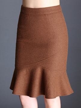 Ericdress Pleated Knee-Length Autumn Usual Skirts