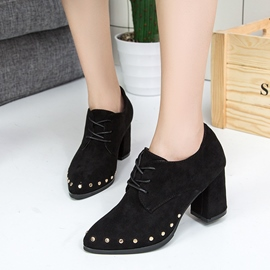 Ericdress Black Rivet Plain Ankle Boots