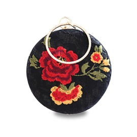 Ericdress Vintage Floral Embroidery Clutch