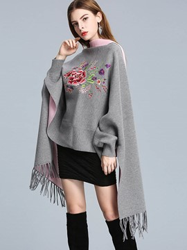 Ericdress Tassel Wrapped Floral Cape