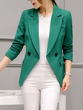 Ericdress Notched Lapel Plain One Button Blazer