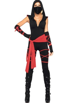 Ericdress Halloween Ninja Lace-up Jumpsuit