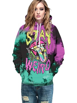 Ericdress Halloween Tie-Dye Thick Cool Hoodie