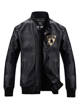 Ericdress Leisure PU Faux Leather Men's Jacket