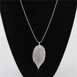 Ericdress Concise Leaf-Shape Pendant Necklace