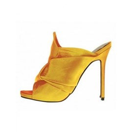 Ericdress Yellow Flip Flop Platform Stiletto Heel Mules Shoes