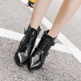 Ericdress Fashion Buckle Pointed Toe High Heel Ankle Boots