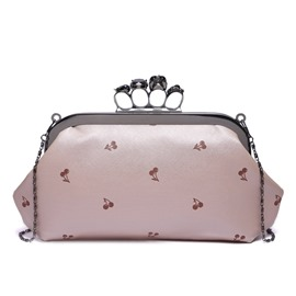 Ericdress Cherry Printing Buckle Evening Clutch