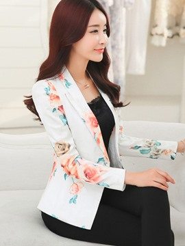 Ericdress Slim One Button Tie-Dye Blazer