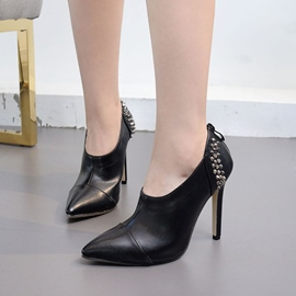 Ericdress New Arrival Rivet Zipper Stiletto Heel Pumps