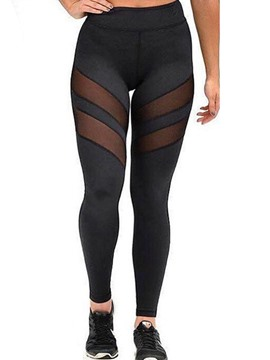 Ericdress Mesh See-Through Patchwork Leggings Pants