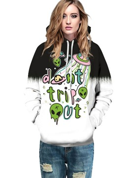 Ericdress Halloween Loose Tie-Dye Cool Hoodie