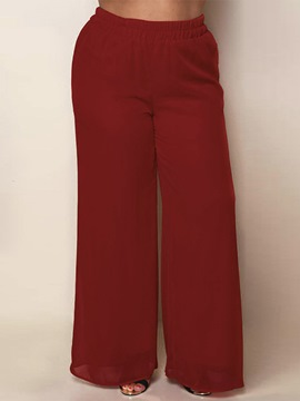 High-Waist Wide Legs Plain Pants