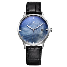 Ericdress Mysterious Quartz Leather Strap Women's Watch