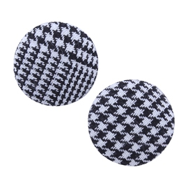 Ericdress Houndstooth Button Women's Stud