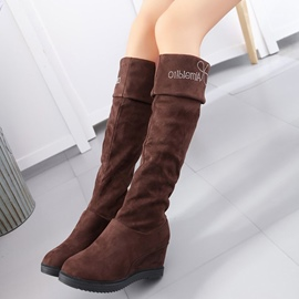 Ericdress Round Toe Slip-On Platform Knee High Boots