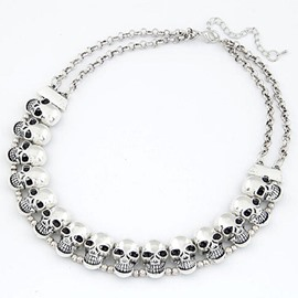Ericdress Retro Alloy Skull Choker Necklace for Women