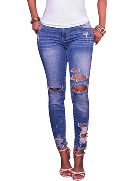 Ericdress Hole Button Pocket Jeans