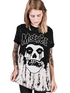 Ericdress Halloween Mid-Length Print T-shirt