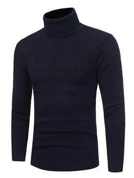 Ericdress Plain Men's Pullover Sweater