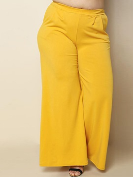 Wide Legs Pocket Plain Pants