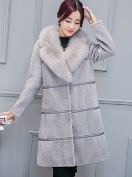 Ericdress Fur Mid-Length Thick Coat