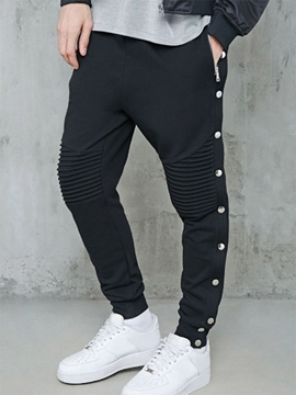 Ericdress Plain Lace-Up Sports Men's Pants