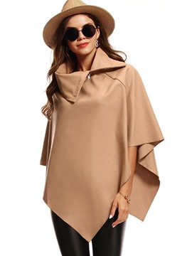 Ericdress Plain Loose Turtleneck Cape