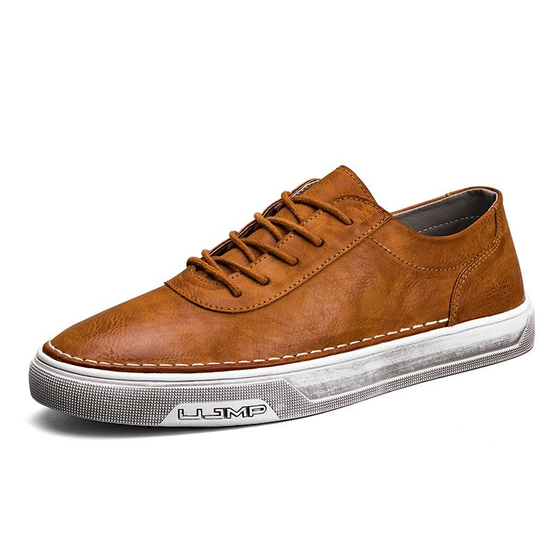 Ericdress Fashion Plain Lace-Up Mens Skater Shoes