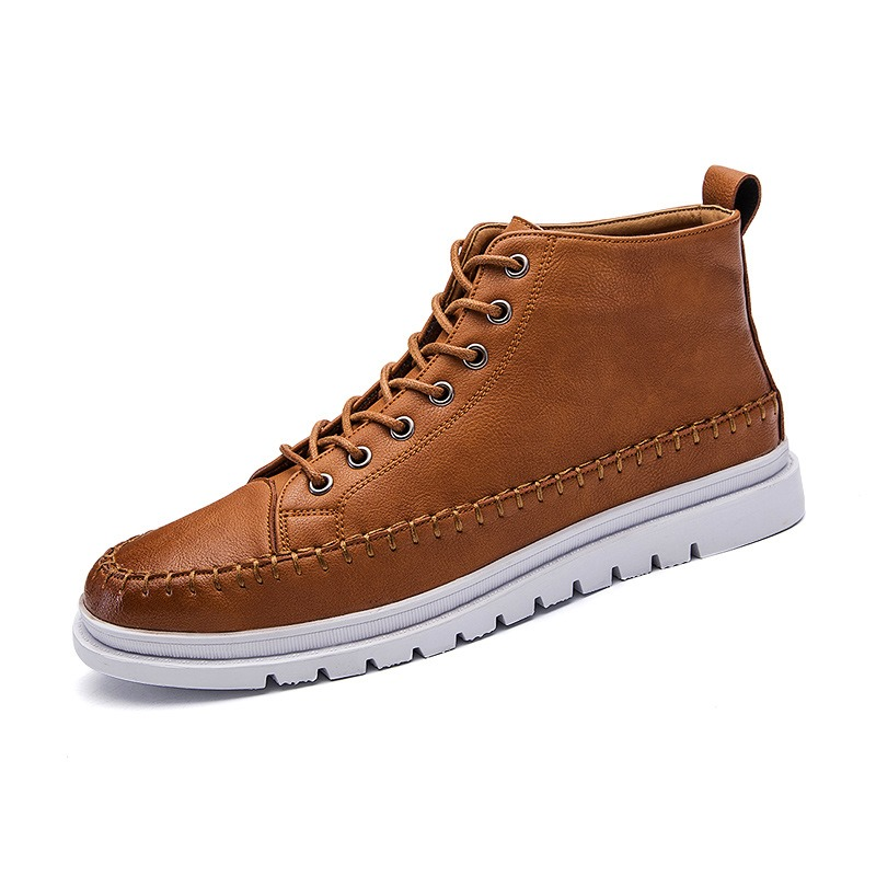 Ericdress Fashion Ankle Plain Mens Martin Boots