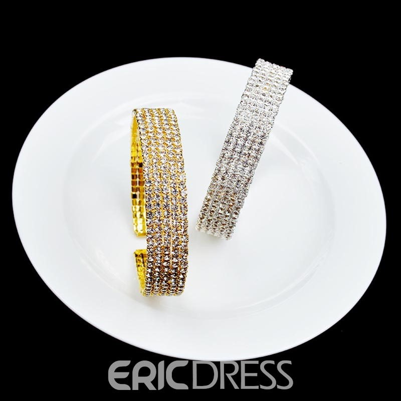 Ericdress Fully Rhinestone Shining Women's Bracelet