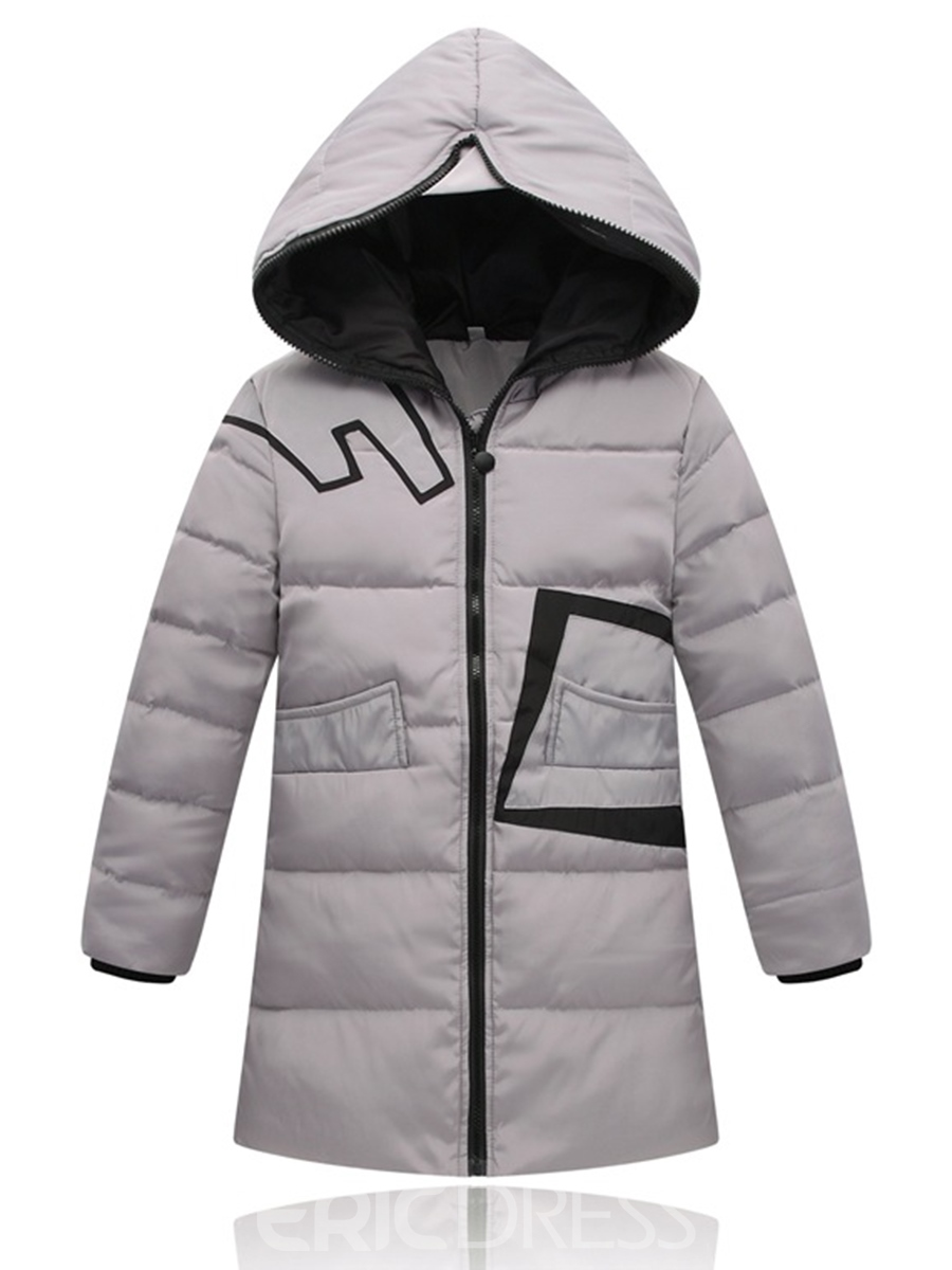 Ericdress Thicken Warm Geometric Pattern Boys And Girls Down Jacket