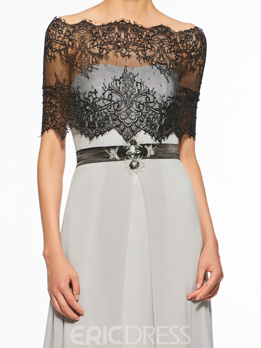 Ericdress Off The Shoulder Half Sleeves A Line Lace Mother Of The Bride Dress