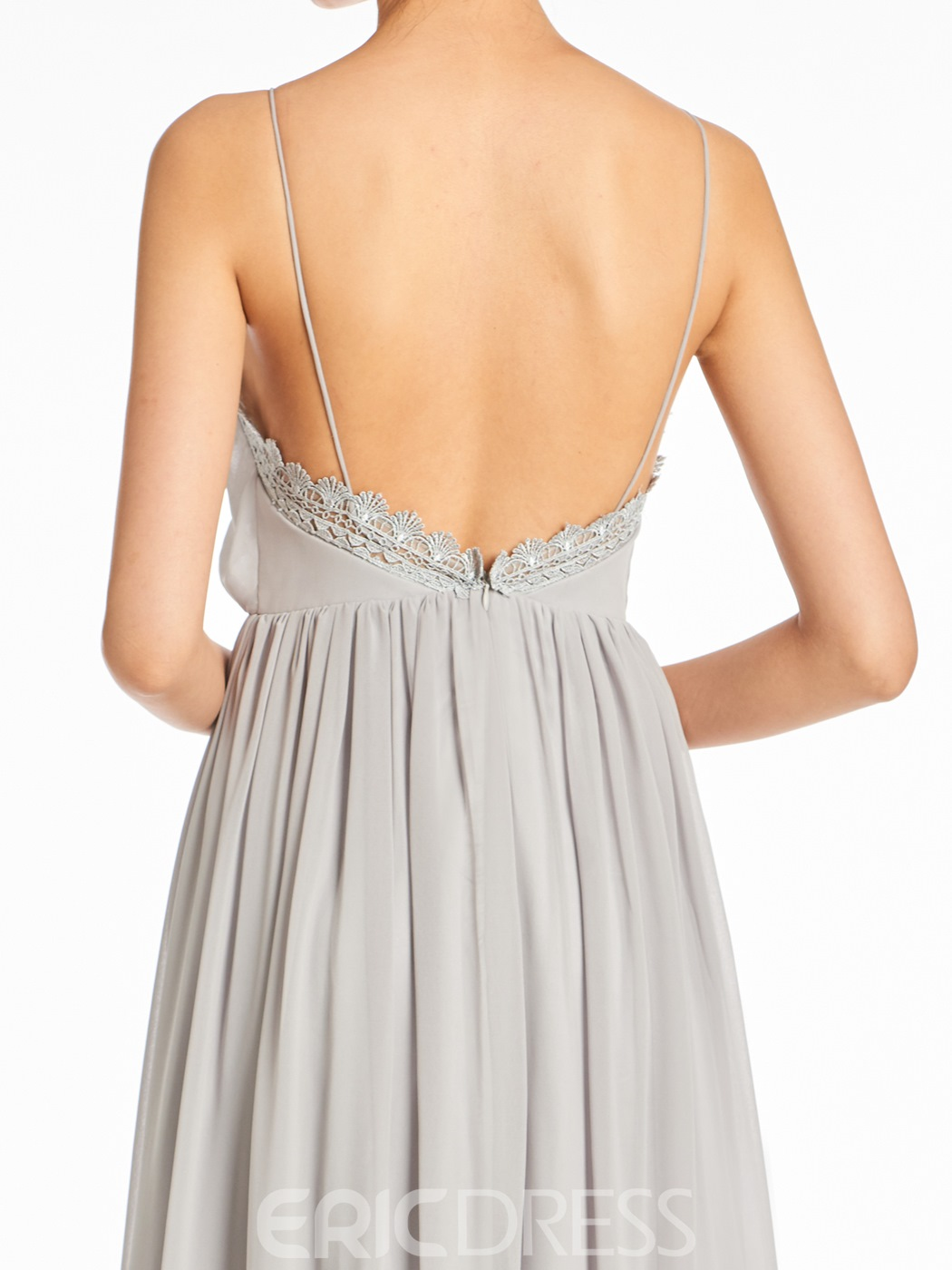 Ericdress Spaghetti Straps A-Line Backless Bridesmaid Dress