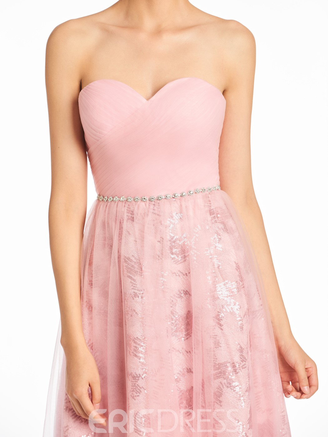 Ericdress Sweetheart A Line Tulle Tea Length Bridesmaid Dress