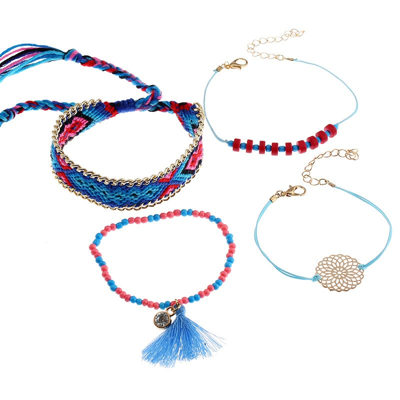 Ericdress Splendid Mulitlayer Beads Tassel Bracelet for Women