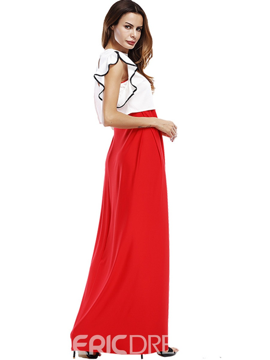 Ericdress Sleeveless Ruffles Ankle-Length Two Piece Set