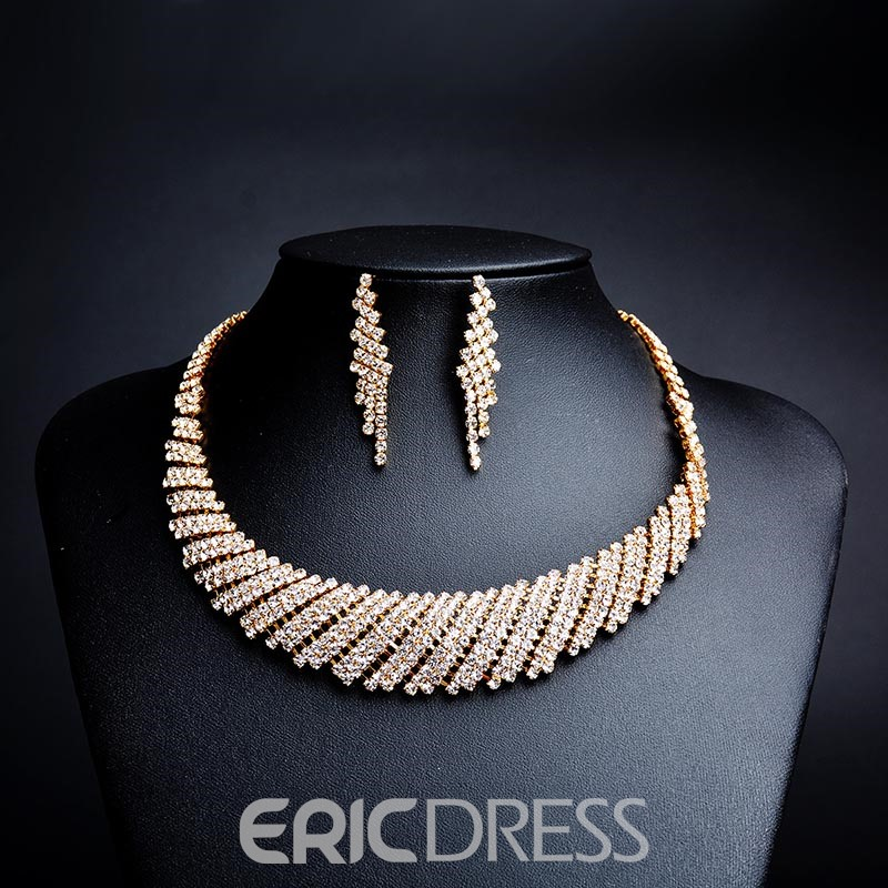 Ericdress Best Seller Luxurious Fully Rhinestone Two-Piece Jewelry Set