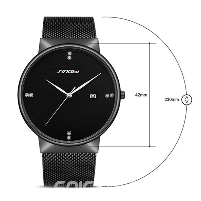 Ericdress Stainless Steel Strap Waterproof Men's Watch