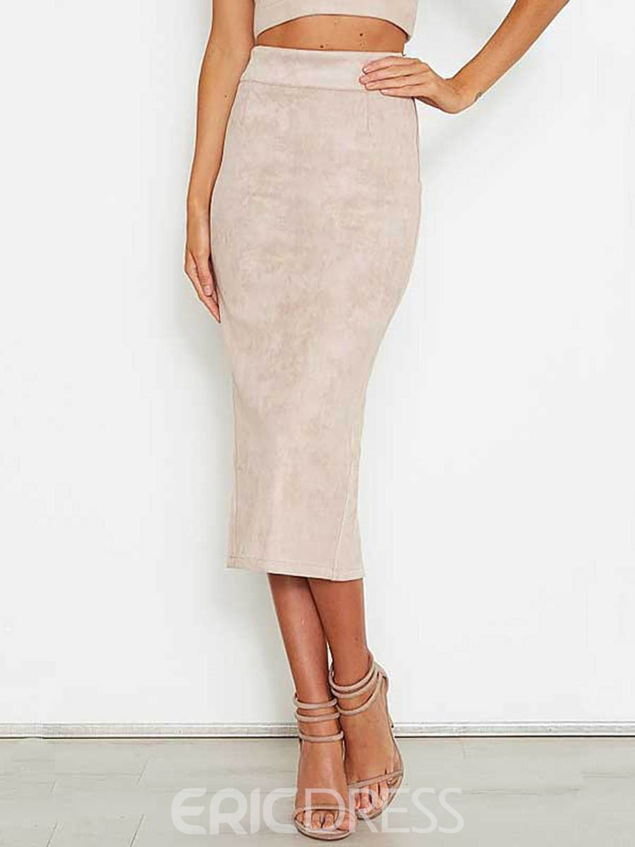 Ericdress Suede Imitate Bodycon Women's Skirt