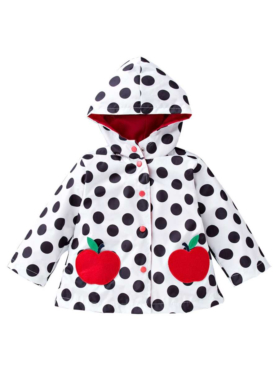 Ericdress Apple Pattern Polka Dots Girl's Outerwears