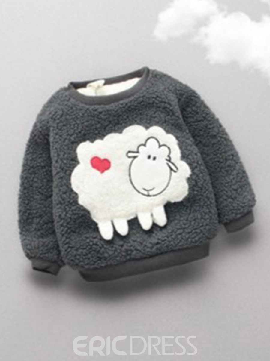 Ericdress Thick Cotton Liner Fall Cartoon Pattern Baby Boys And Girls Sweater