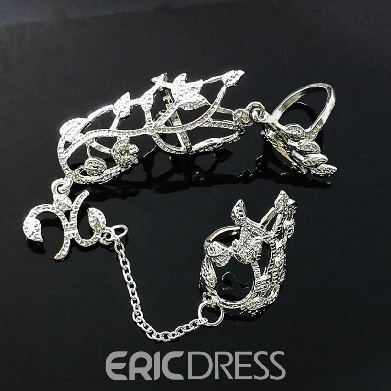 Ericdress Alluring Rhinestone Hollow Out Adjustable Ring for Women