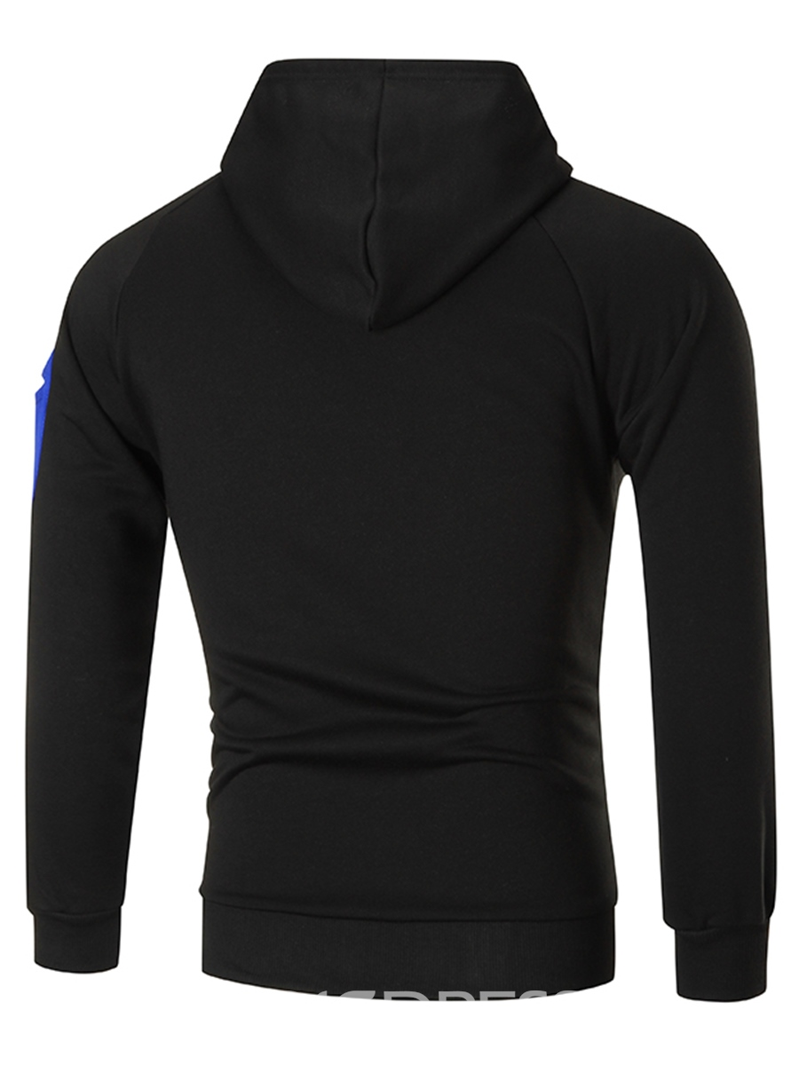 Ericdress Patchwork Hooded Pullover Men's Hoodie