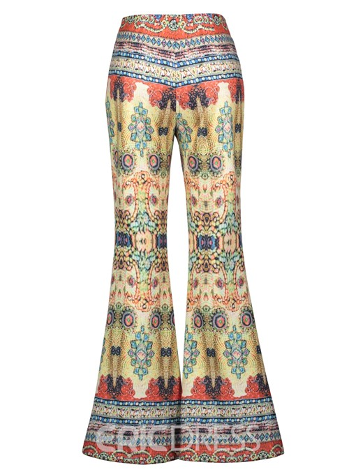 Ericdress High-Waist Geometric Print Women's Bellbottoms