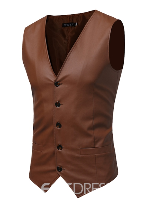 EricdressTop Designed V-Neck Casual Slim Fit Men's Vest