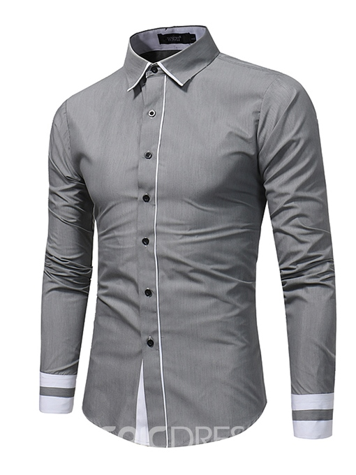 Ericdress Plain Casual Men's Shirt